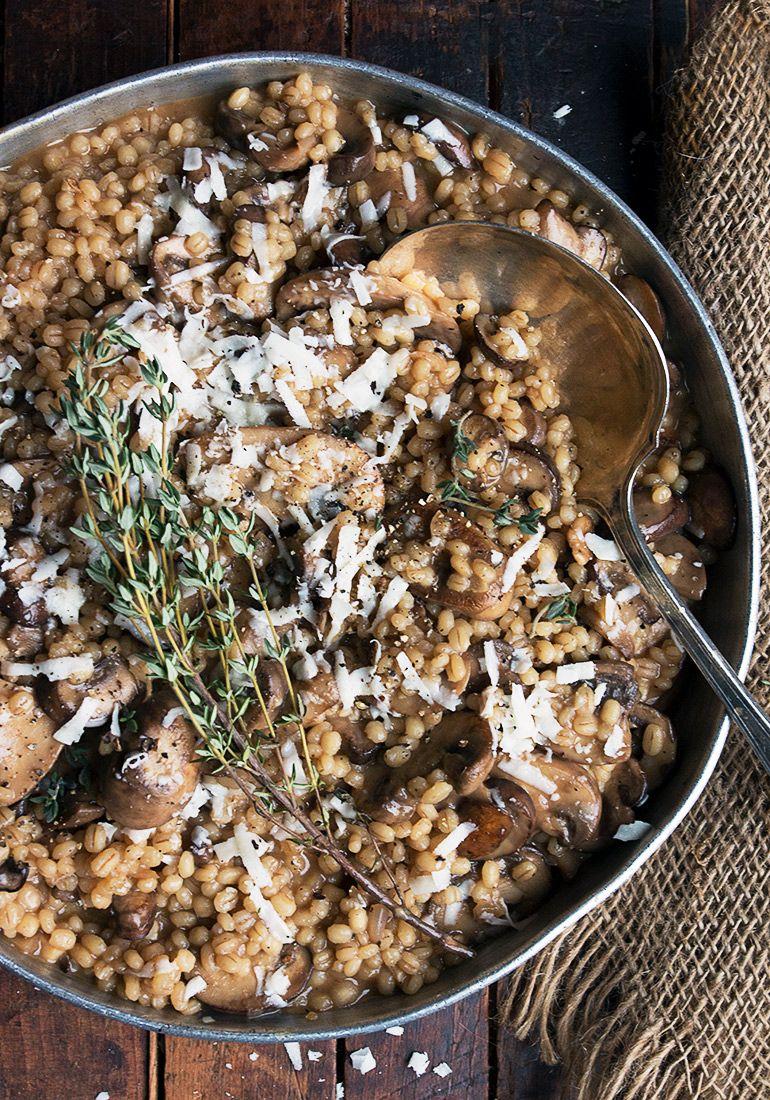 Barley risotto with mushrooms barley risotto barley