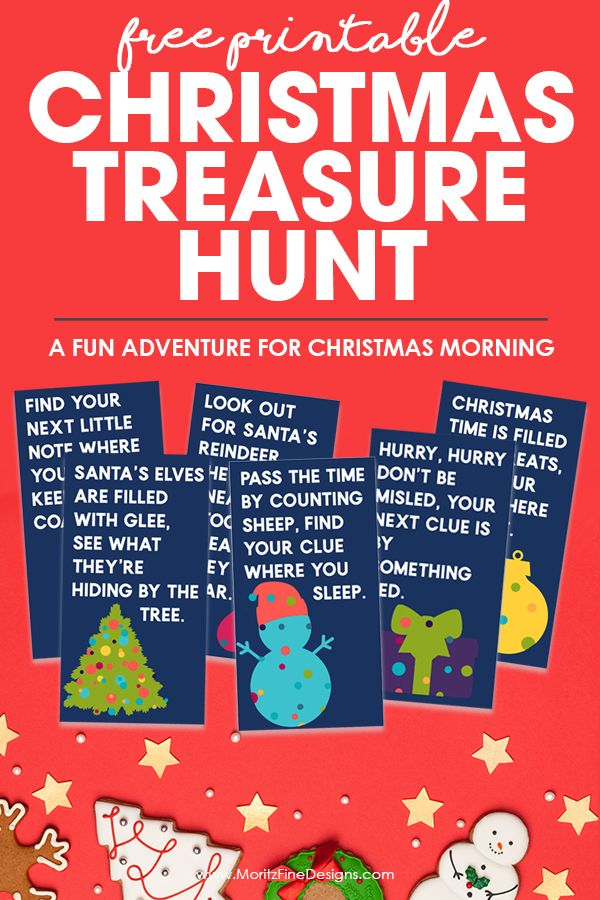 Free Printable Christmas Treasure Hunt Free christmas