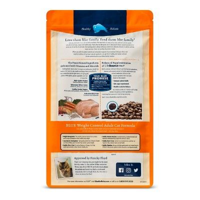 Blue Buffalo Weight Control Adult Chicken Dry Cat Food 5lb Bag