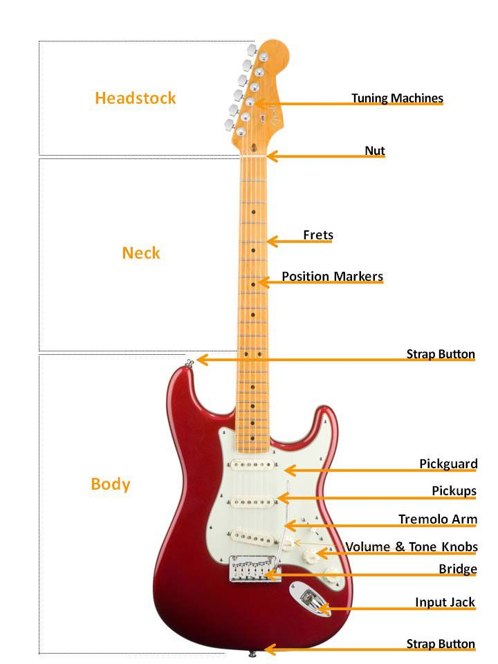 electric guitar buyer s guide pinterest guitars and learning guitar rh pinterest com labelled diagram of electric guitar Electric Guitar Anatomy