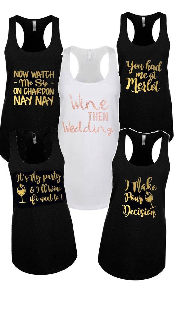 4813bd6b2 Bridesmaid Shirts, Sip Sip hooray, wine lovers bachelorette party tank,  bridesmaid vacay shirts, wine lovers shirt, bride and bridesmaids