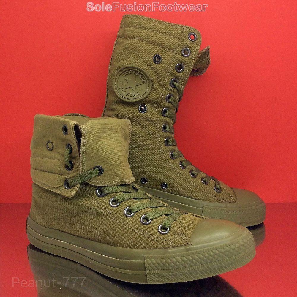 1d201b095e9 womens Converse All Star X HI Boots sz 6.5 Khaki VTG Chuck Taylor men 39.5  US8.5