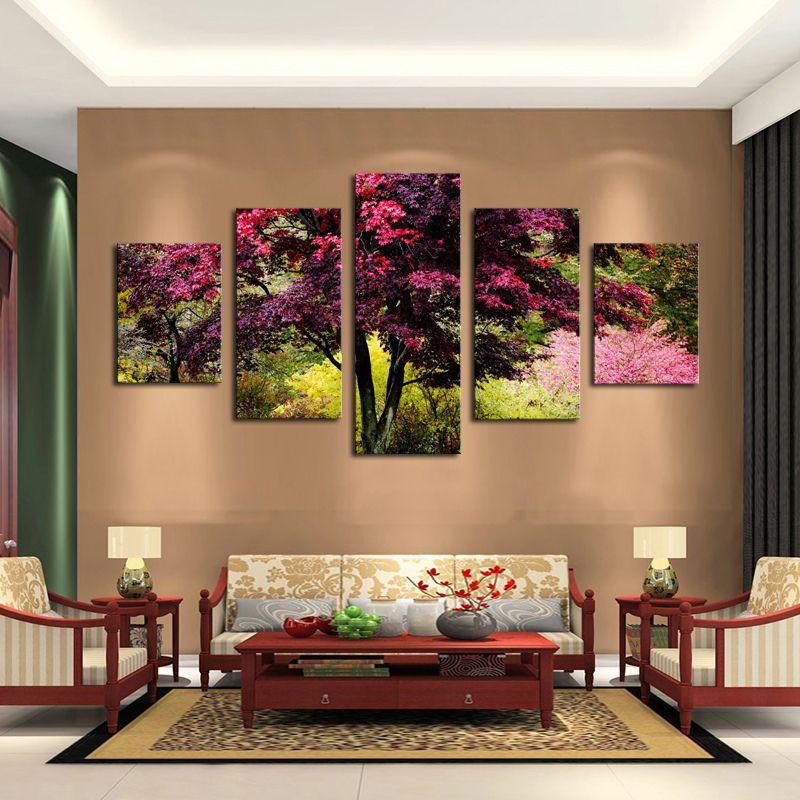 Rbol rosa oleo pinterest panel buscar con google y for Pintura para salas pequenas
