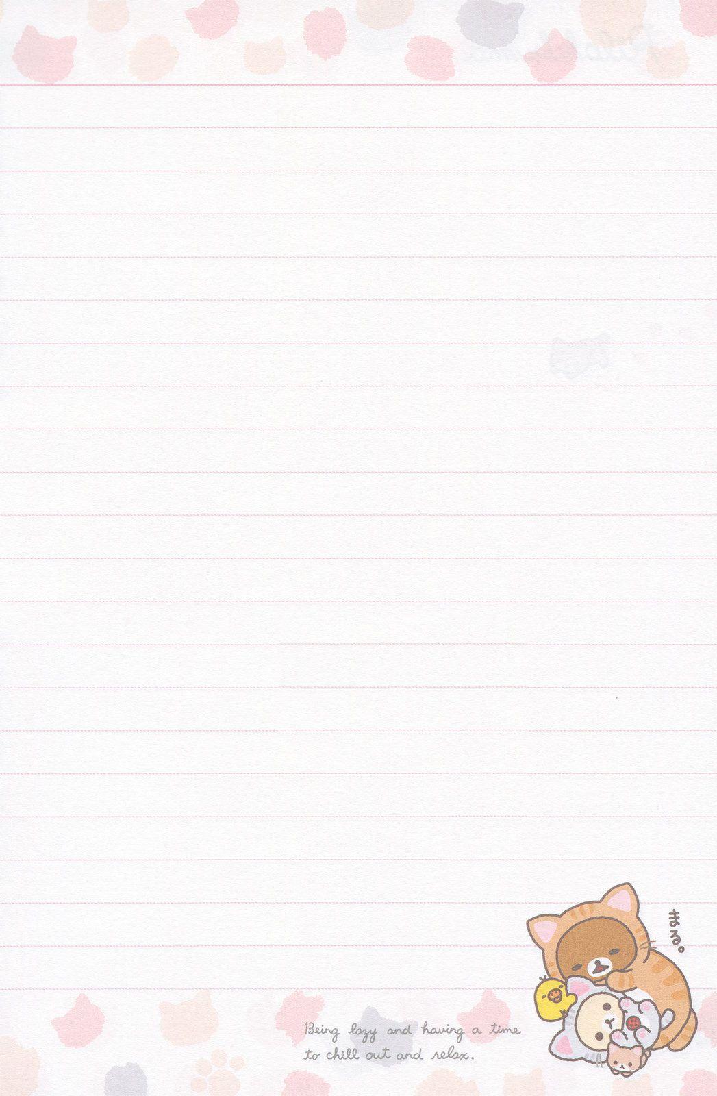 "san-x rilakkuma ""cat"" notebook | backgrounds/notepapers | pinterest"