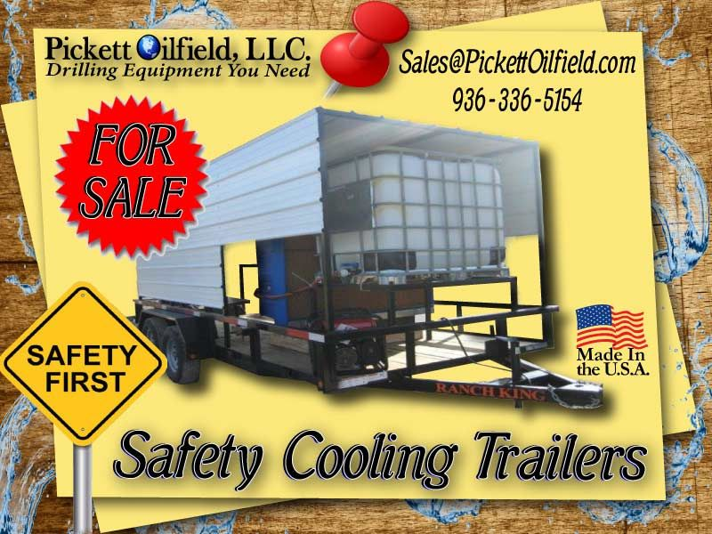 Cooling trailers oilfield covered trailers trailer