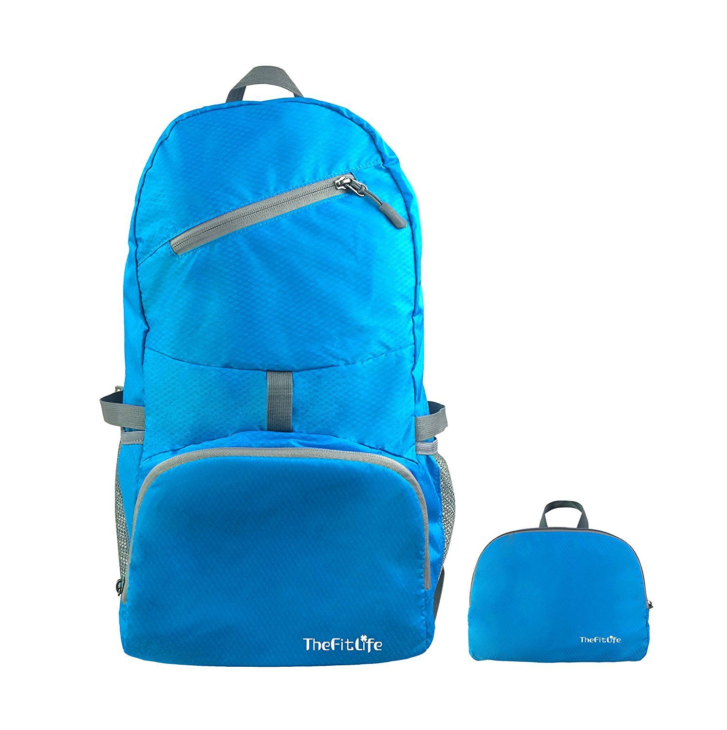 TheFitLife Travel Backpack Packable Bag Handy Lightweight Large Waterproof  Folding Portable And Durable For Hiking Camping Trekking Cycling Climbing  ... bfce921ca61e5