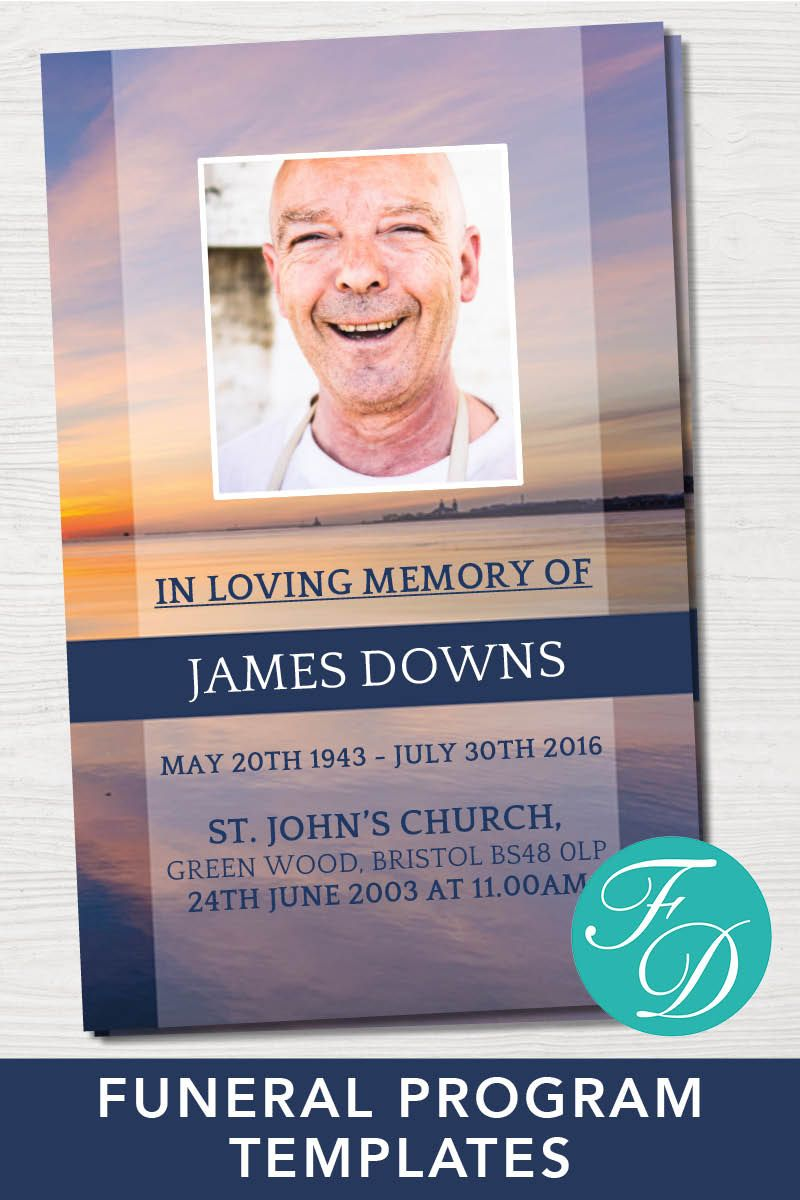 Funeral Program Template Obituary Template Order Of