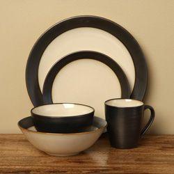 Sango 40-piece Bistro Cream Stoneware Dinnerware Set | Overstock.com Shopping - The & Sango 40-piece Bistro Cream Stoneware Dinnerware Set | Overstock.com ...