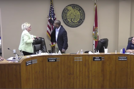 A city meeting in Florida grows tense. in 2020 Latest