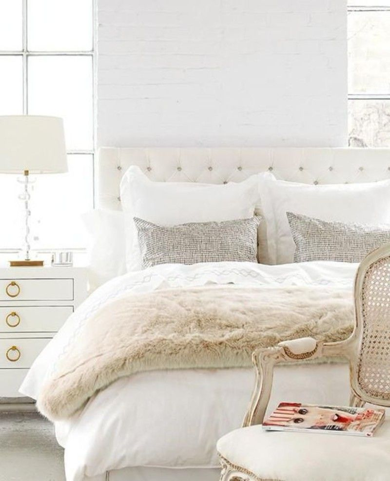 Best Detail From A Classic Inspired All White Bedroom That's 400 x 300