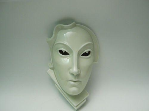 Superb Art Deco Rosenthal Porcelain Wall Mask Gerhard Schliepstein - Jugendstil