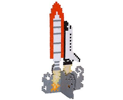 3d space shuttle perler bead pattern perler pinterest for Space blast 3d