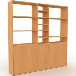 Photo of Wohnwand Buche – Individuelle Designer-Regalwand: Türen in Buche – Hochwertige Materialien – 190 x 1