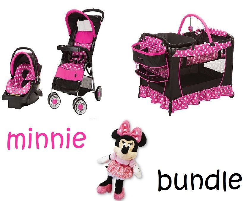 Minnie Mouse Newborn Set Play Yard Travel System Baby Girl ...