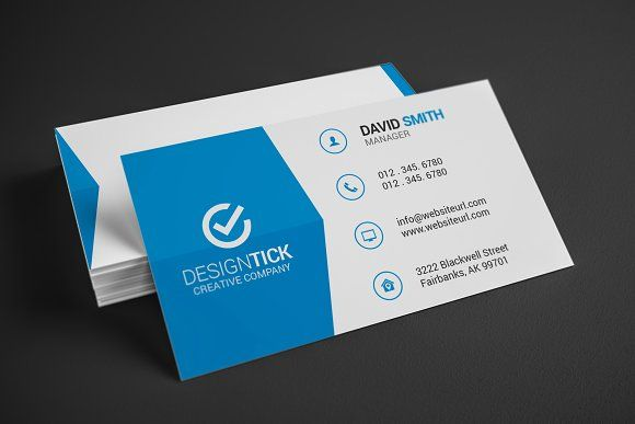 Simple clean business card business cards free logo and business modern business card by made by arslan on creativemarket flashek Images