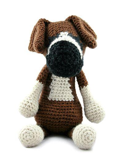 TOFT Amigurumi Crochet Large Boxer kit amigurumi kutyak Pinterest Toft ...