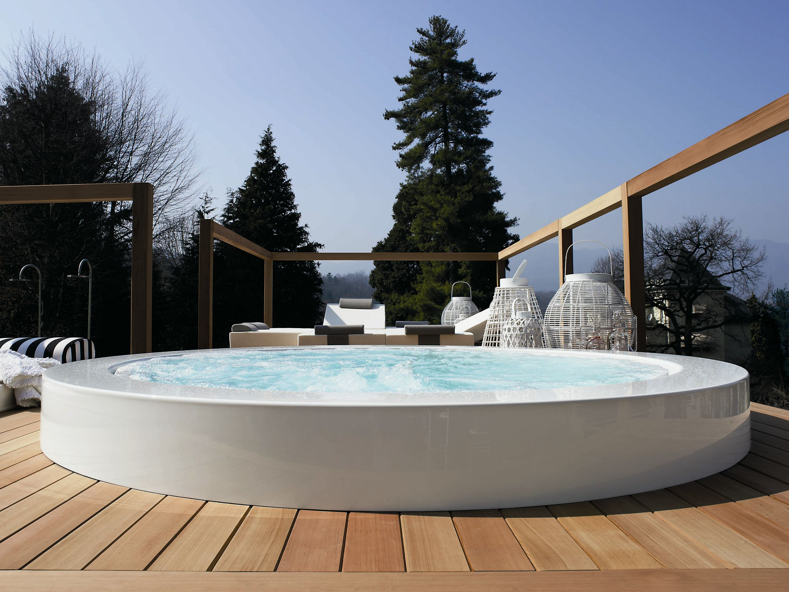 Overflow Outdoor Hot Tub MINIPOOL | Built In Hot Tub   @zucchettikos | Out  | Pinterest | Outdoor Hot Tubs, Hot Tubs And Tubs