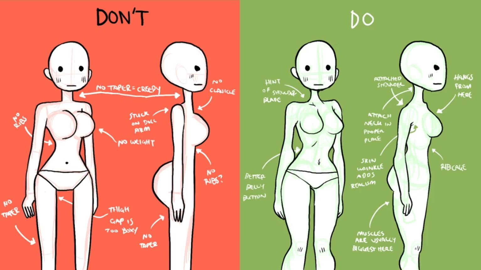 Do Don T Feminine Bodies Art Reference Photos Drawing Reference Anime Drawings Tutorials