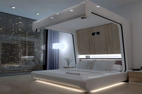 Design Ideen Himmelbetten Modern Schlafzimmer