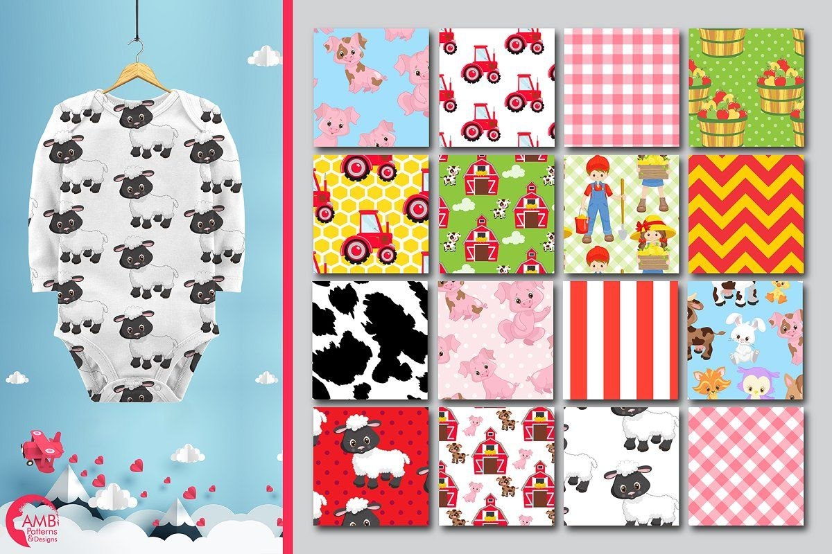 Farm Animal Papers, AMB-1493 , #spon, #design#surface#Pack#pattern #AD