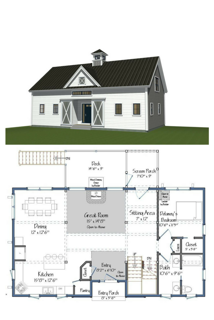 Orchard View Barn Homes Floor Plans Barn House Plans Small Barn Home