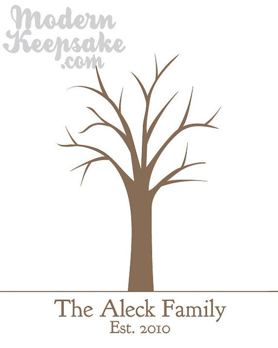 Diy Personalized Thumbprint Family Tree Printable Pdf By Peachwik