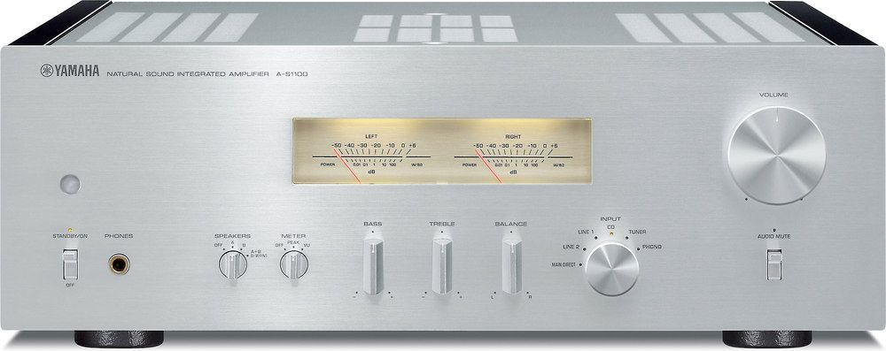 YAMAHA A-S1100 (Silver). The Yamaha A-S1100 is a musical powerhouse and a cool, retro-looking centerpiece for your stereo system. Stereo sound for the serious listener.