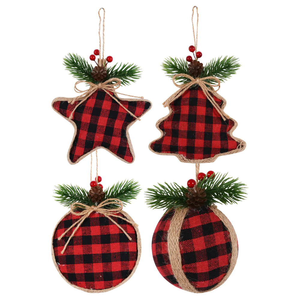 Christmas House Buffalo Plaid Ornaments Buffalo Plaid Ornaments Diy Christmas Ornaments Christmas Decorations
