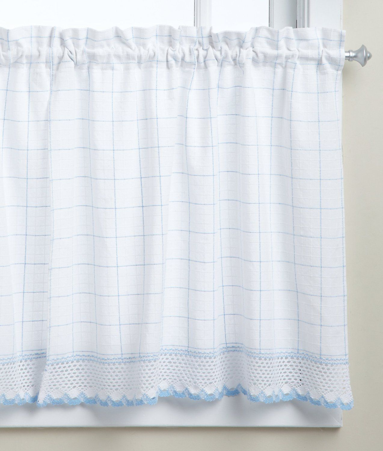 Amazon Lorraine Home Fashions Adirondack Tier Curtain Pair 60 By 24
