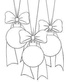Use as Coloring Page with Pretty Christmas Ornaments :-D