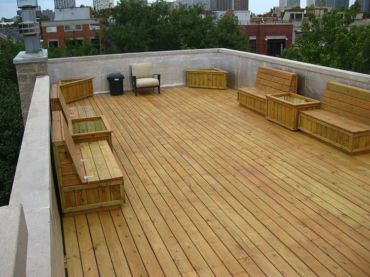 Roof Top Deck Roof Deck Construction Chicago Chicago Roof Deck Deckconstruction Roof Deck Deck Construction Building A Deck