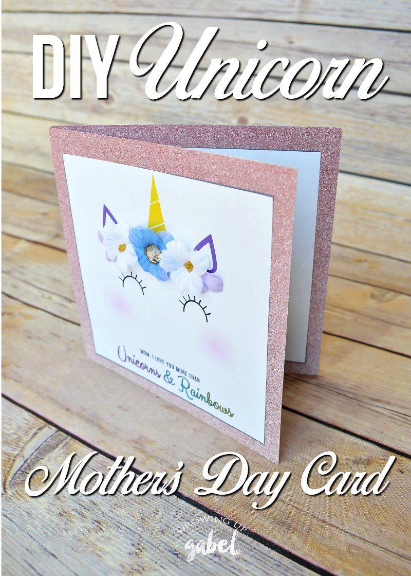 easy unicorn diy mother's day card  mother's day diy diy