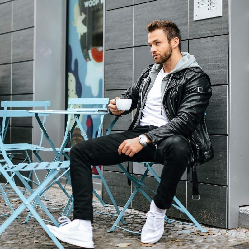 50 Best Fall Leather Jackets For Men 2018 Urban Men Outfits Mens Fall Street Style Leather Jacket Men Mens Fashion Fall