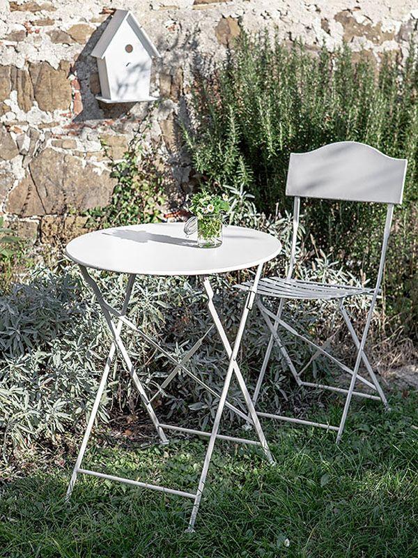 Tavolo Giardino Ferro Bianco.Tavolo In Ferro Bianco Bistrot Fiorira Un Giardino Coquelicot