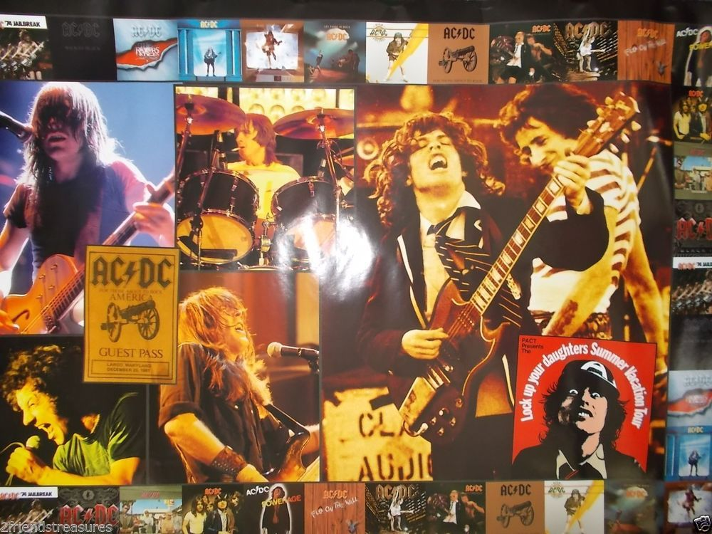 AC/DC Poster 36x24 Aquarius Posters Album Covers Angus Young Guest Pass