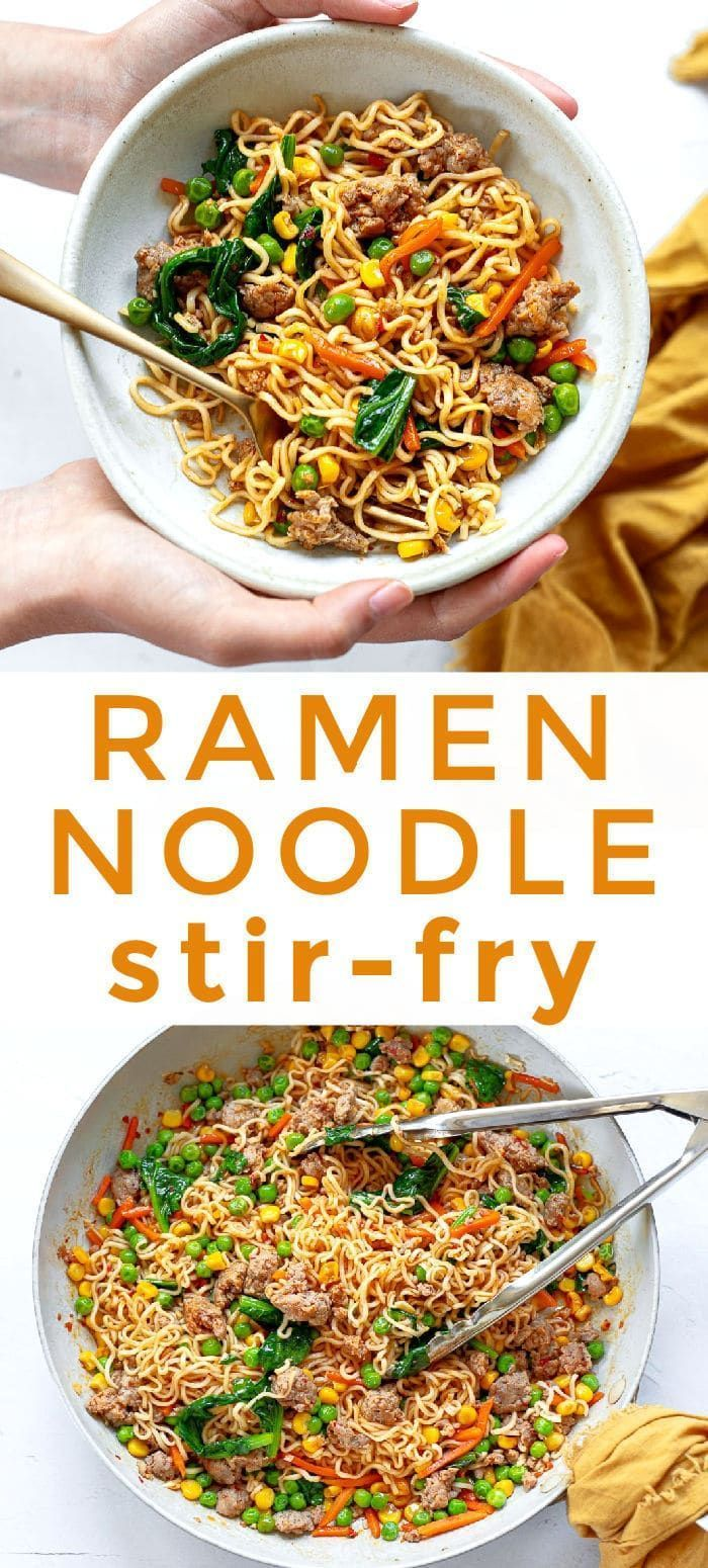 Ramen Stir-Fry with Chicken and Vegetables