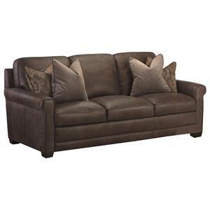 Scranton Leather Sofa In Tuscany Stone Nebraska Furniture Mart