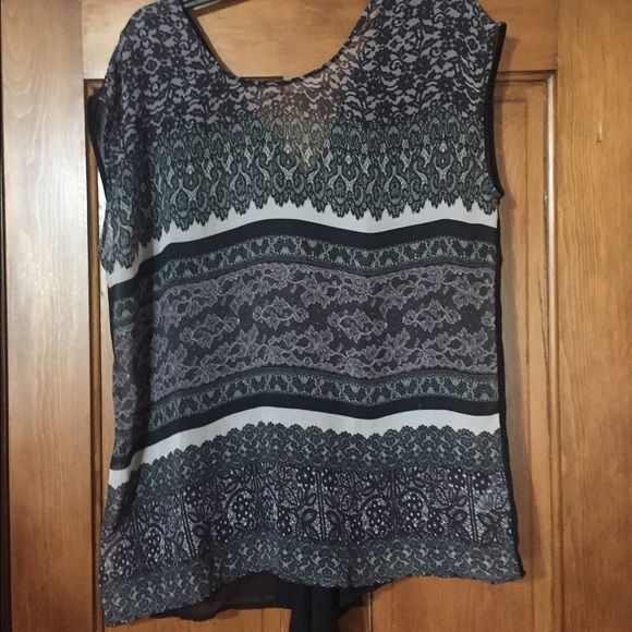 Maurice's Sheer Top Sexy sheer top in black multi print color! Brand new with tags! Never even tried on! Size 1x but could fit an XL! Super gorgeous!! Maurices Tops Blouses