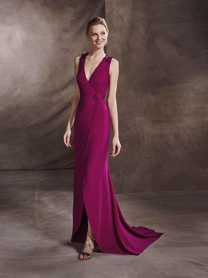 fff94f67e Vestidos de ceremonia San Patrick  fotos colección 2017 - Vestido elegante San  Patrick en color marsala