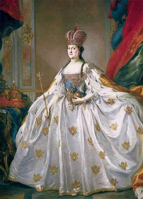 International Portrait Gallery: Retrato mayestático de la Emperatriz Ekaterina II ...
