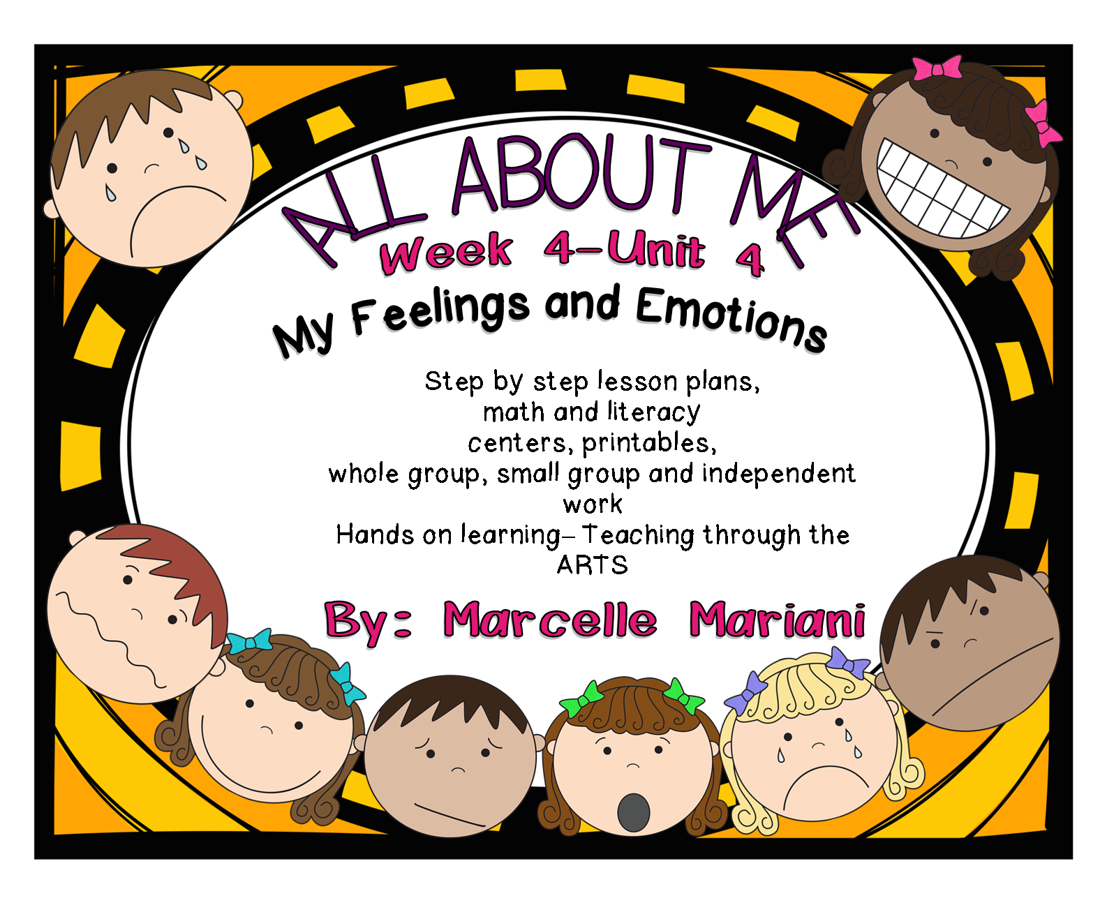 Feelings And Emotions Literacy Amp Math Activities And Lesson Plans All About Me