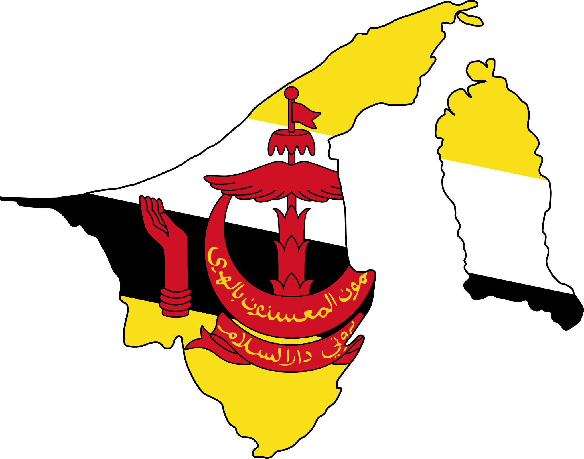 Brunei Flag Map Brunei Flag Brunei Asia Map