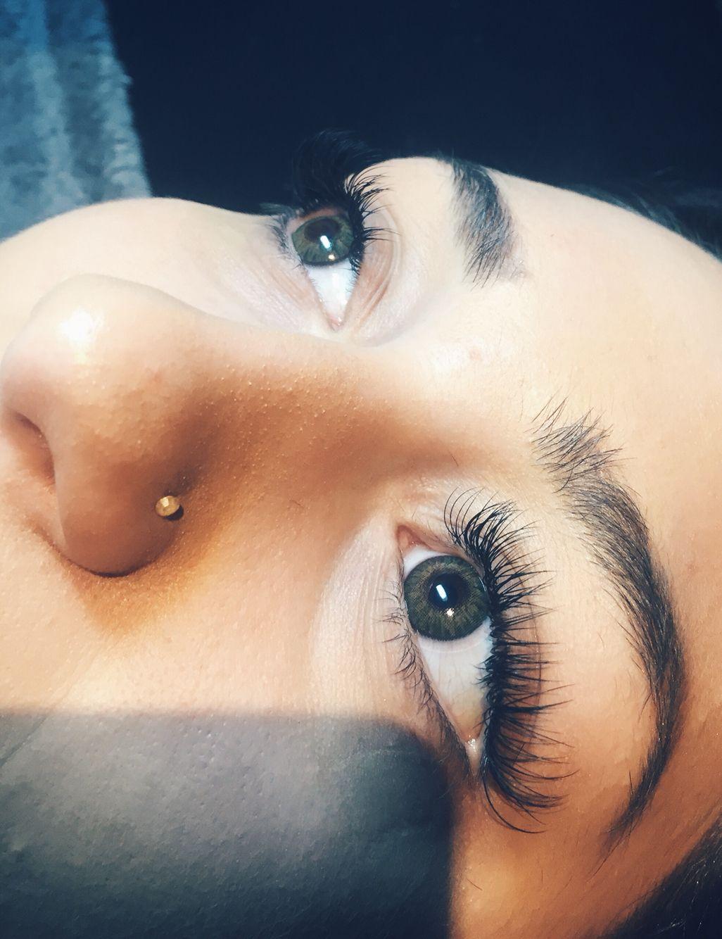 1f8205798ee Full set of glamorous eyelash extensions ! I used Lash Affair