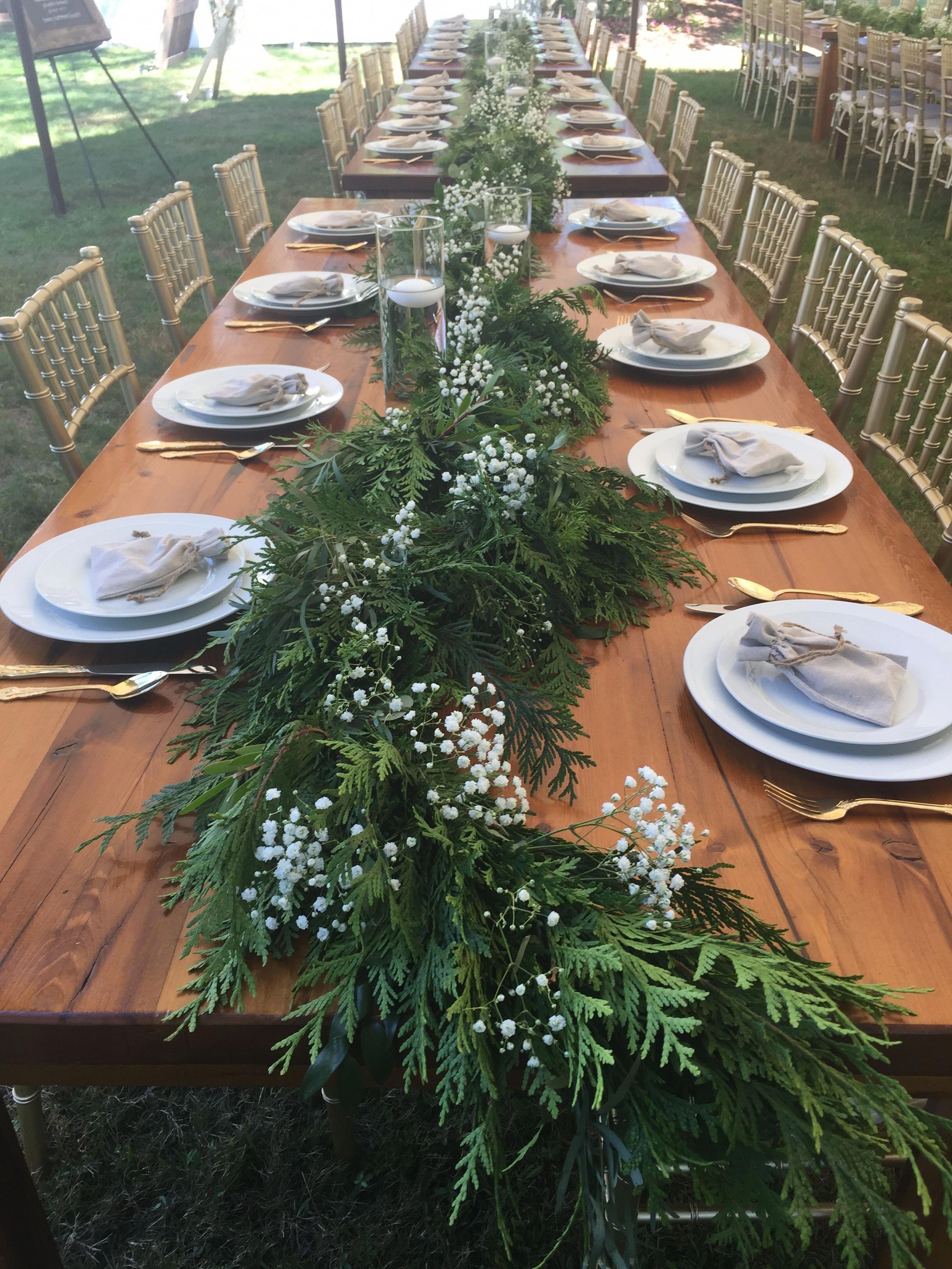 Christmas wedding table settings