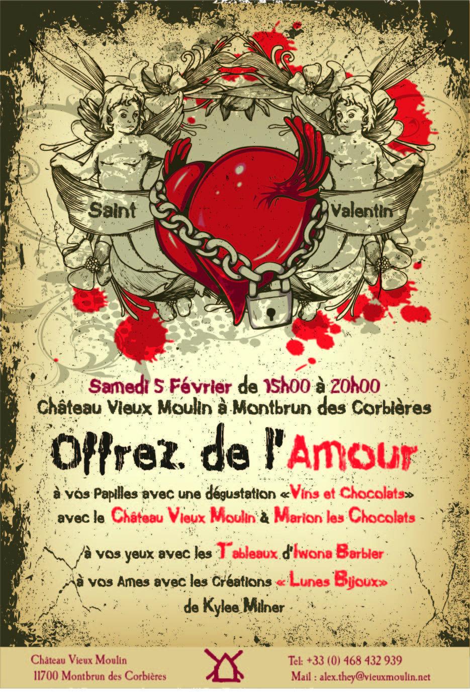 Vin Affiche Saint Valentin 2011 Chateau Vieux Moulin Vin Affiche Saint Valentin 2011 Chateau Vieux Mouli In 2020 Saint Valentine Valentine Poster Valentine Decorations