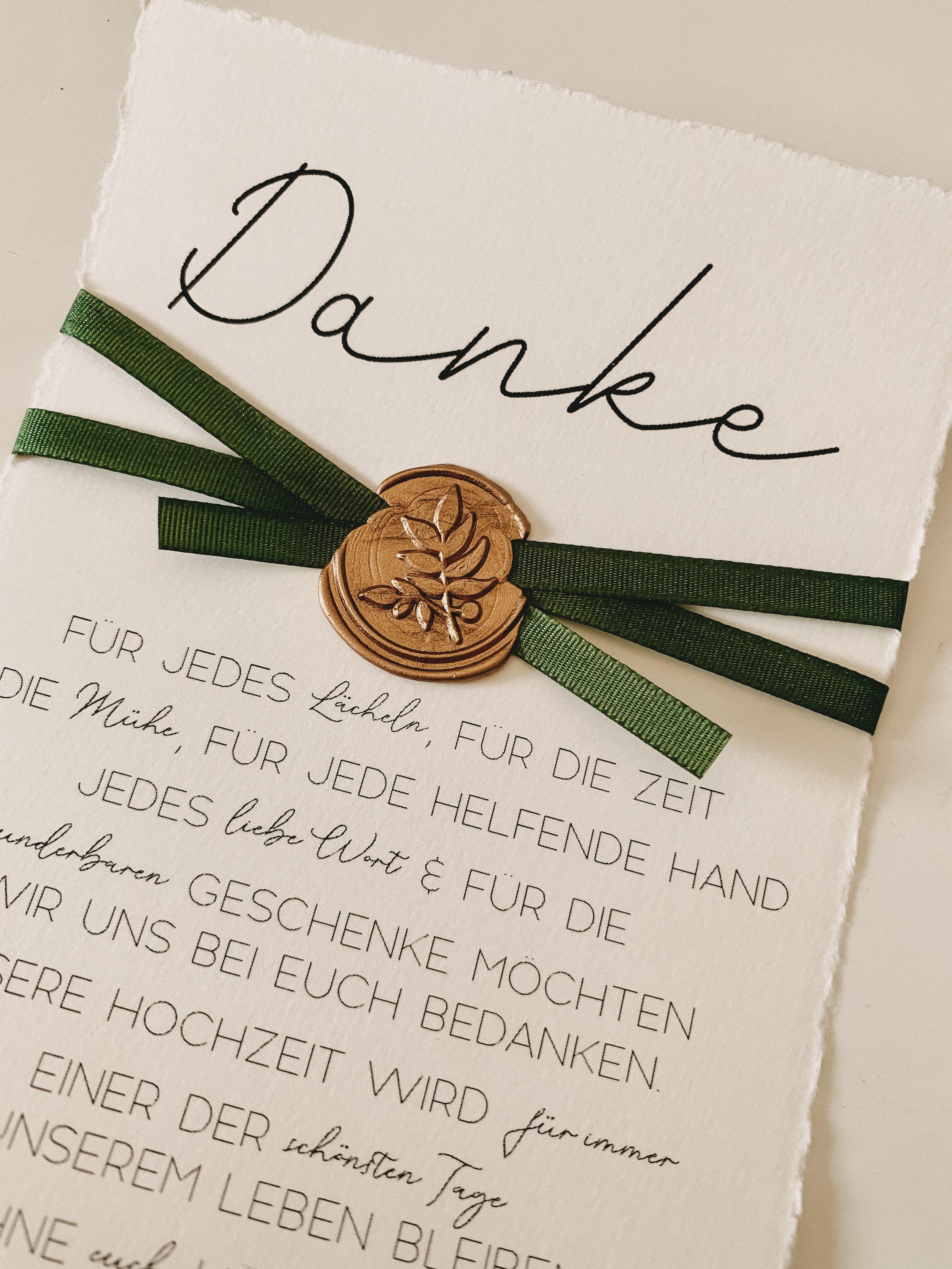 Dankeskarte A6 Aus Buttenpapier Hochzeit Karte Hochzeit Karten Getranke Karte