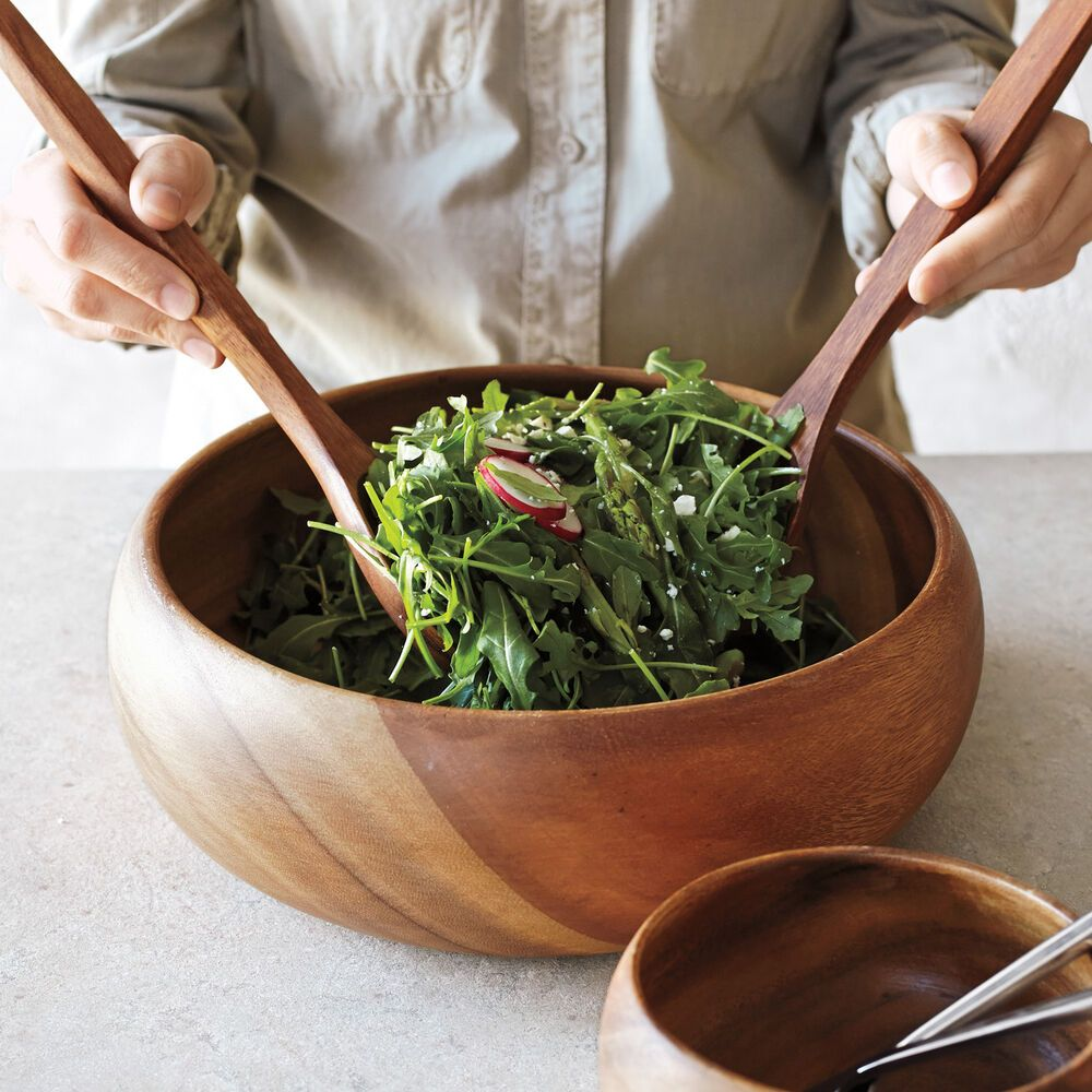 Photo of Acacia Wood Serving Bowl | Sur La Table
