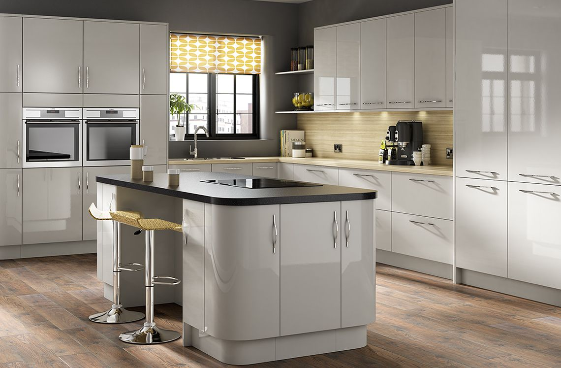 Best Parma Gloss Light Grey With Images Light Grey Kitchens 400 x 300