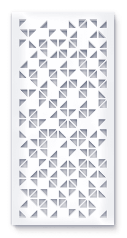 Geometric Tilt Architectural Feature Screens Motives