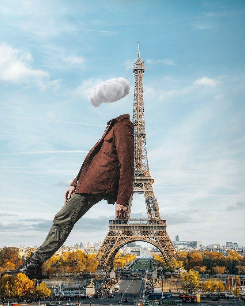 The Headless Gulliver In French Lilliput Paris Eiffeltower